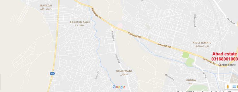 Samungli road Map - samungli road shahbaz town jinnah town samungli housing scheme- arbab town- kakar town- abad estate shahbaz town Quetta - 03003816134- 03168001000 - www.makanpoint.com