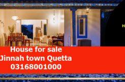 House for sale at Jinnah town Quetta