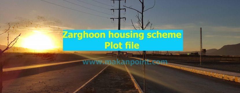 Plot file of zarghoon housing scheme Quetta