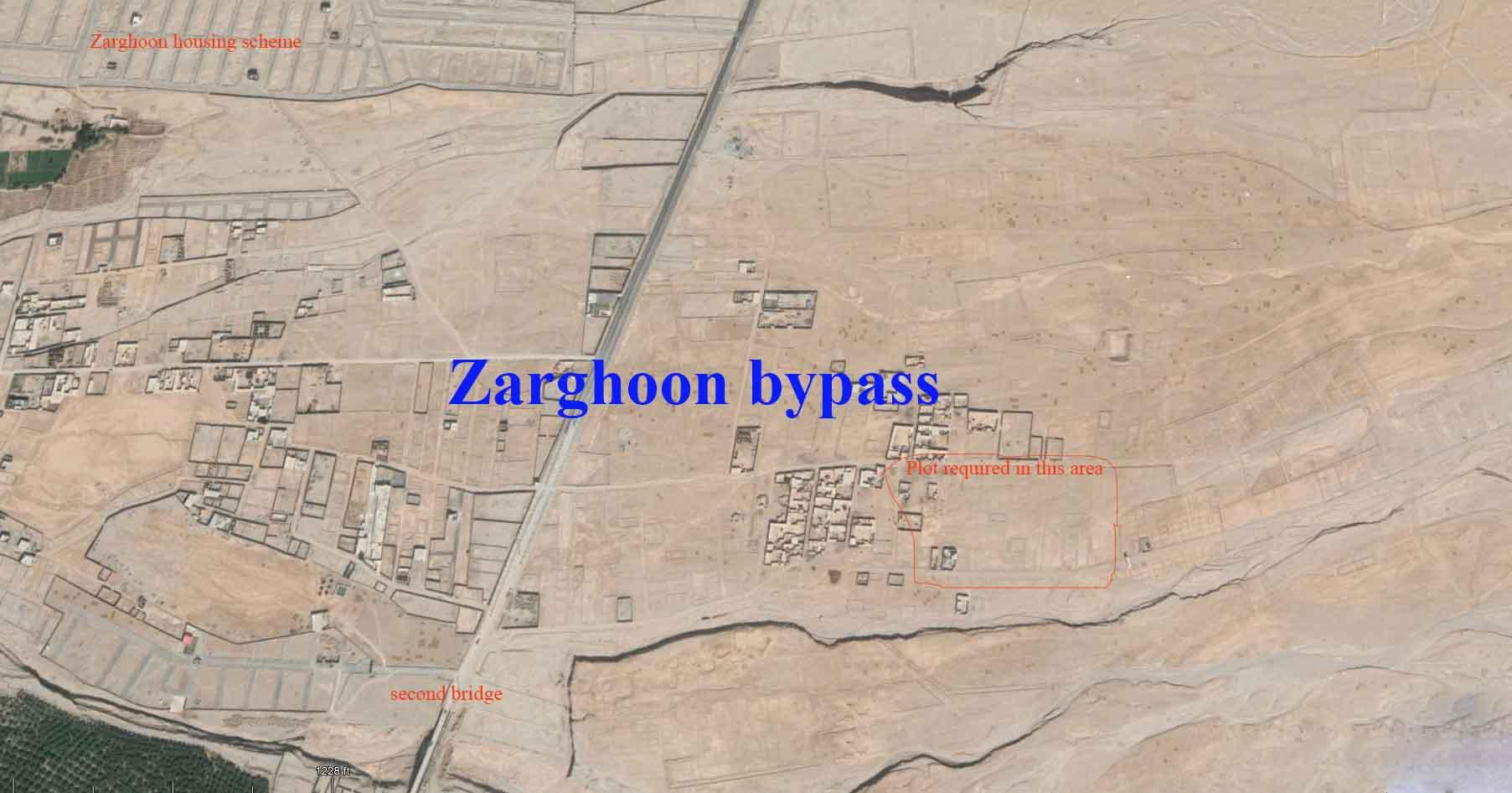 Sra khula zarghoon bypass plot for sale