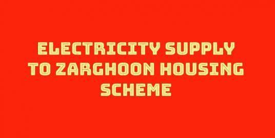 Zarghoon housing scheme quetta electricity connection banner