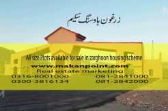 All sizes of plots are available for sale in zarghoon housing scheme