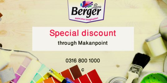Special discount on berger products