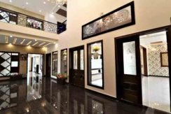 luxury house for sale in Quetta in best location of Quetta living room drawing room wallpaper brown and golden yellow