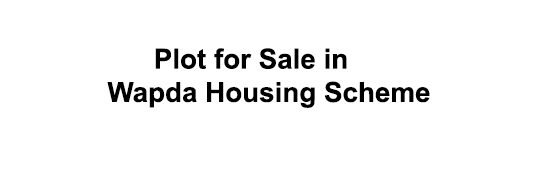 400  yards plot for sale in Wapda socity nawa killi
